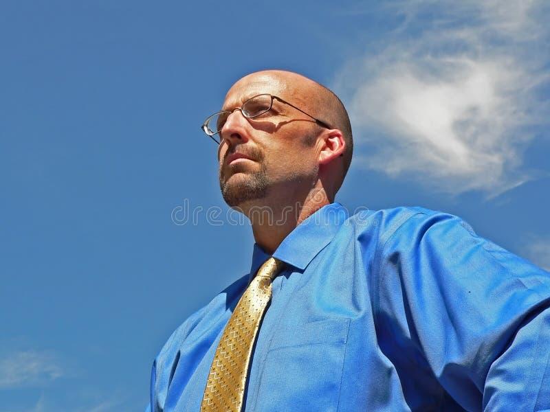 Homme d'affaires visionnaire image libre de droits
