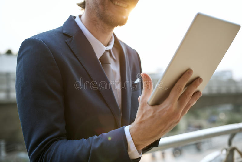 Homme d'affaires Working Connecting Concept images stock