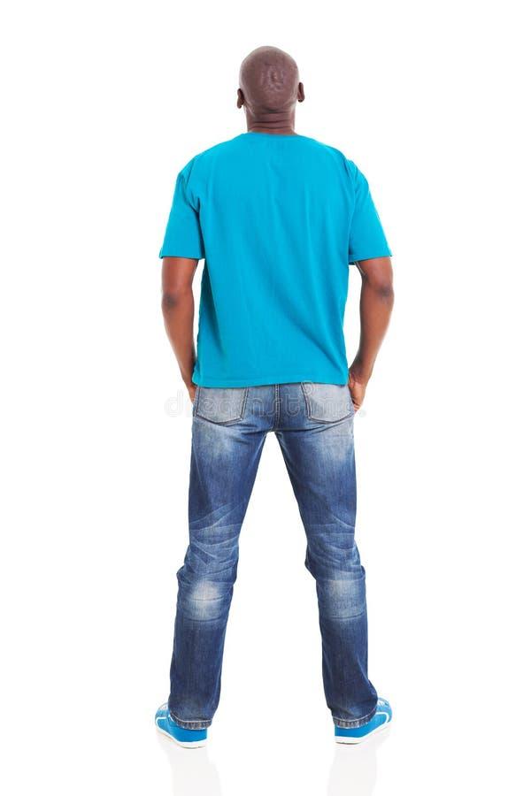 Homme d'Africain de vue arrière photos stock