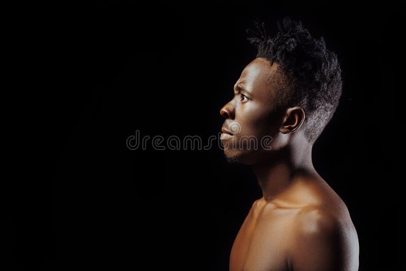 Homme d'Afro-américain avec des dreadlocks photo libre de droits