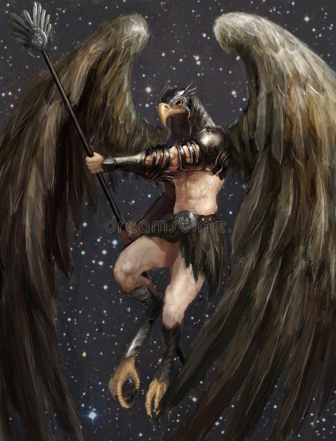Homme d'aigle illustration libre de droits