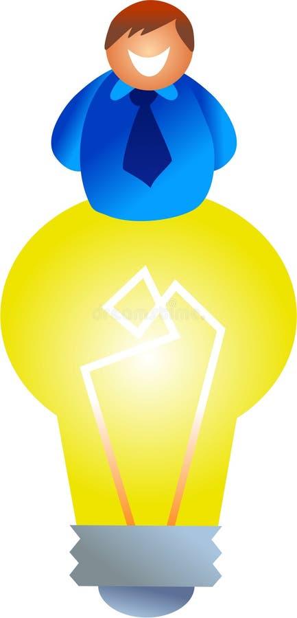 Homme d'ampoule illustration de vecteur