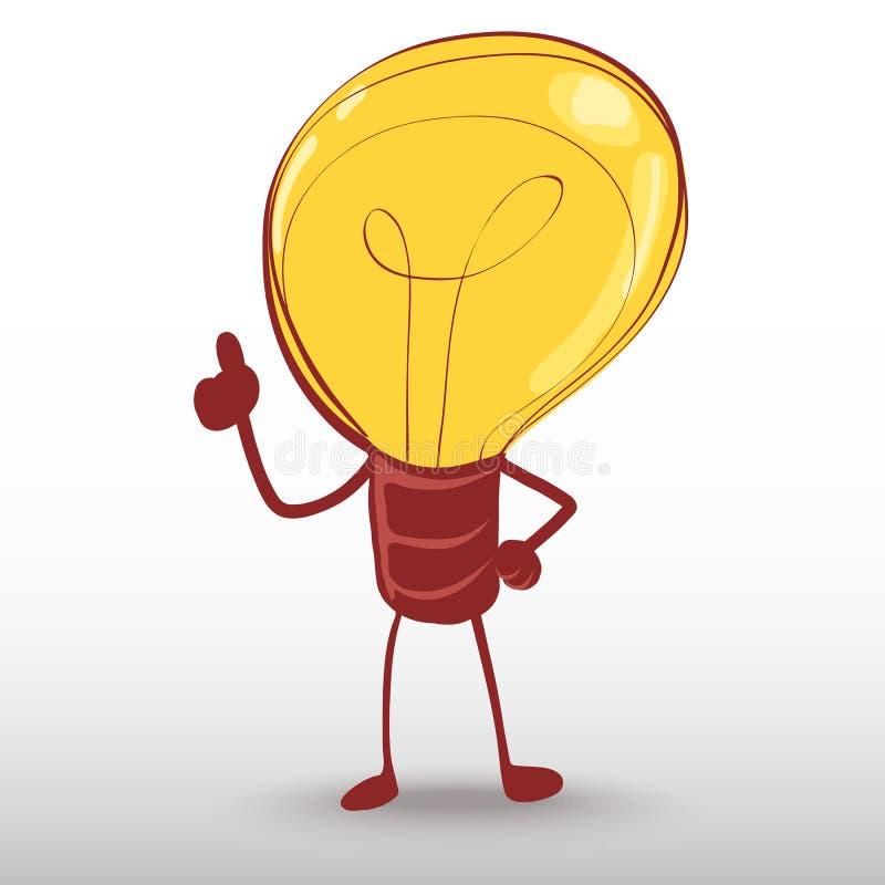 Homme d'ampoule d'idée illustration stock