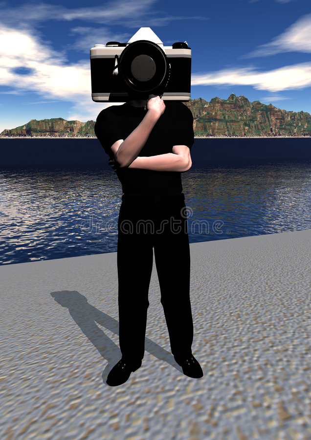 Homme d'appareil-photo illustration stock