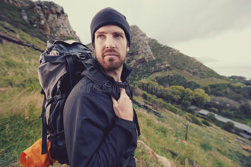 Homme d'aventure images stock