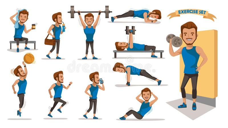 Homme d'exercice illustration stock