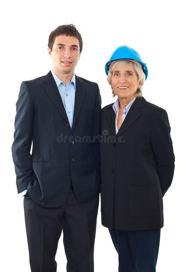 Homme d'ingénieur et femme d'architecte photo libre de droits