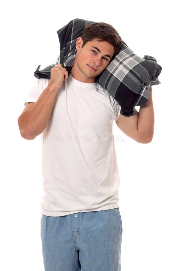 Homme dans des pyjamas. photos libres de droits