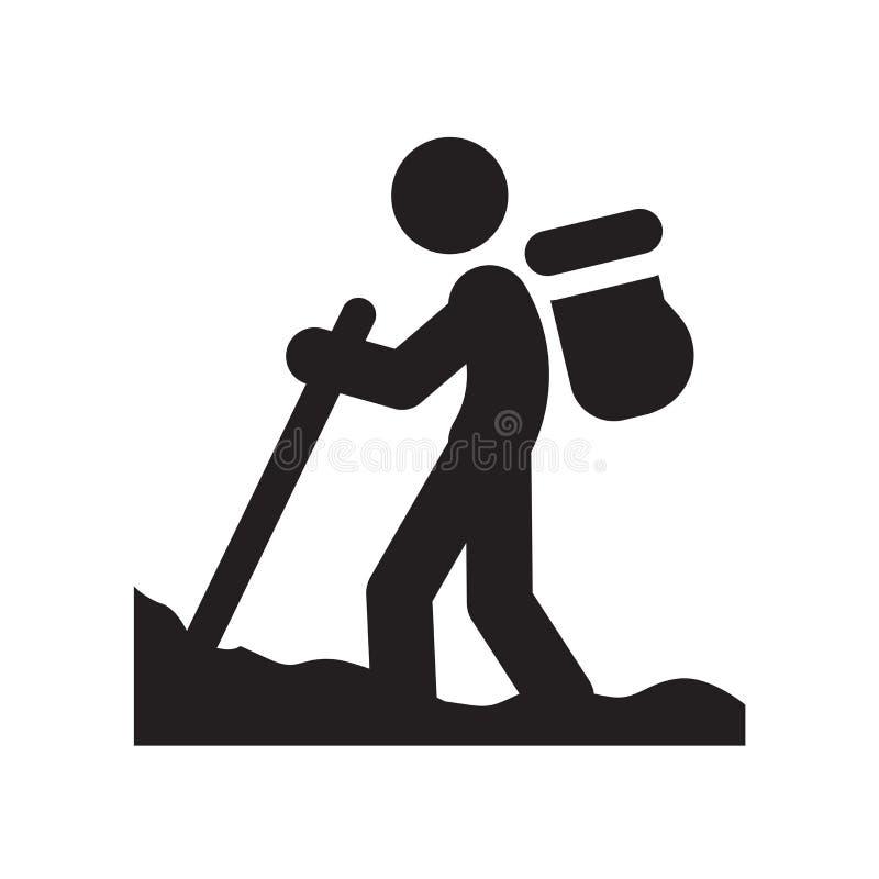 Homme dans l'icône de hausse Homme à la mode dans le concept de logo de hausse sur le backg blanc illustration stock