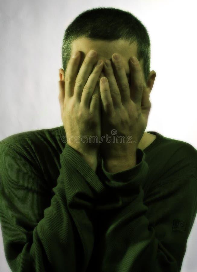 Homme dans la dépression photo stock