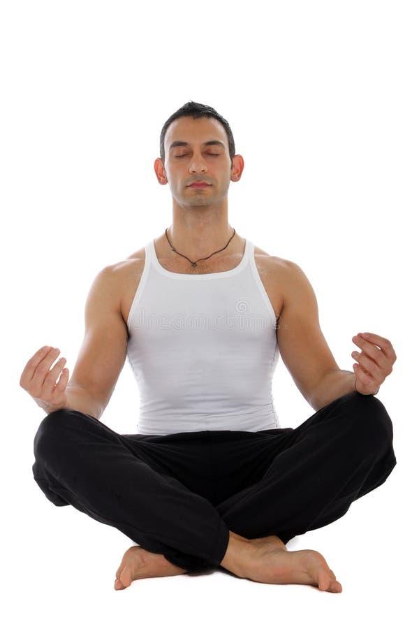 Homme dans la méditation images libres de droits