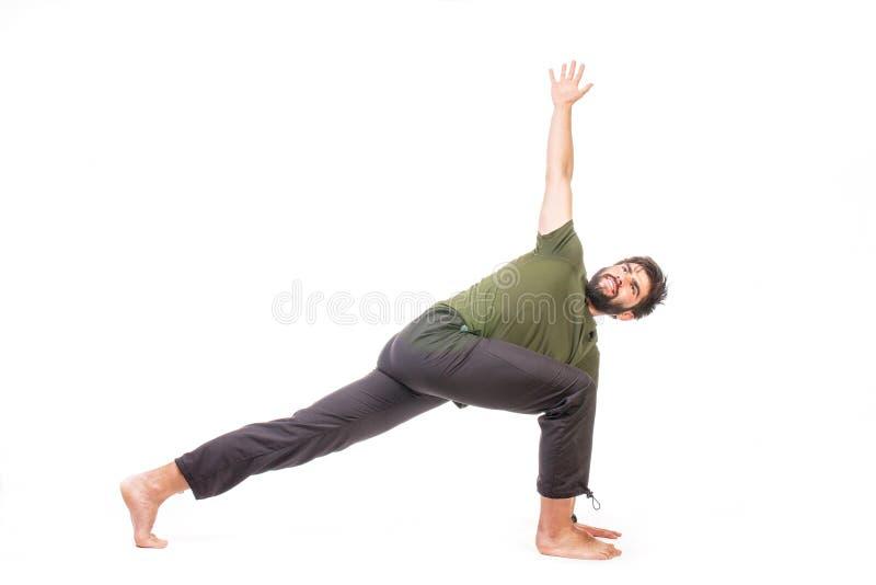 Homme dans la pose de yoga photo libre de droits