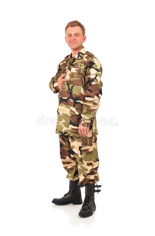 Homme dans le camouflage photo stock