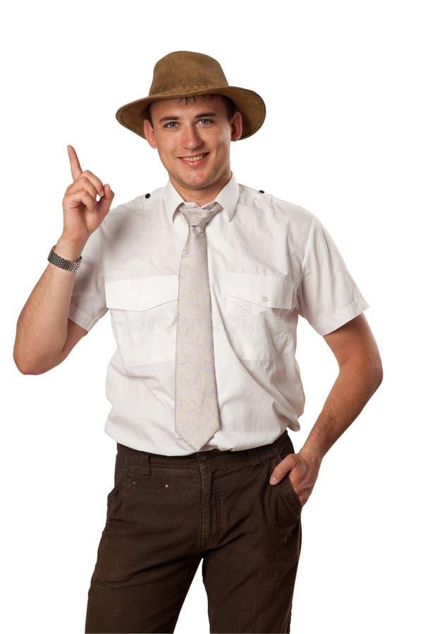 Homme dans le chapeau images libres de droits