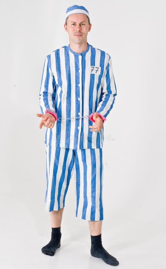 Homme dans le costume de Prisonor photos stock