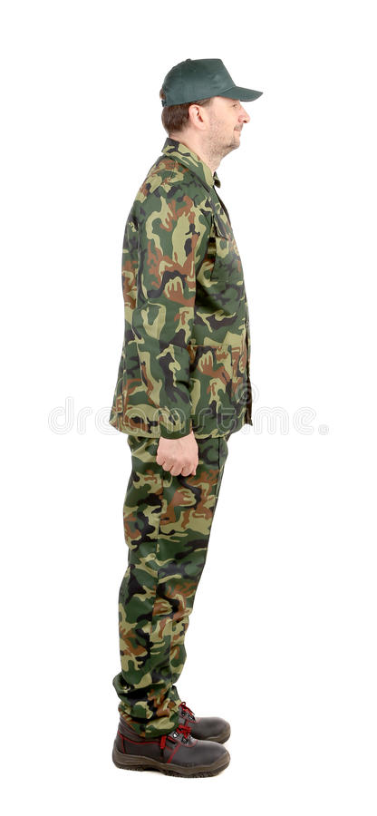 Homme dans le costume militaire. photographie stock libre de droits