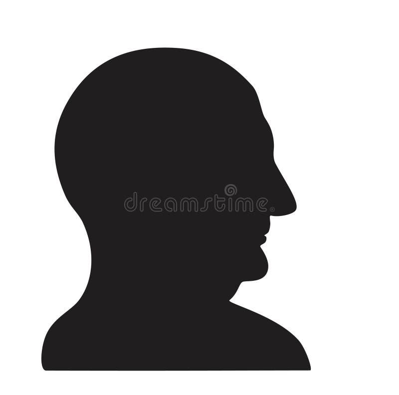 Homme dans le profil illustration stock