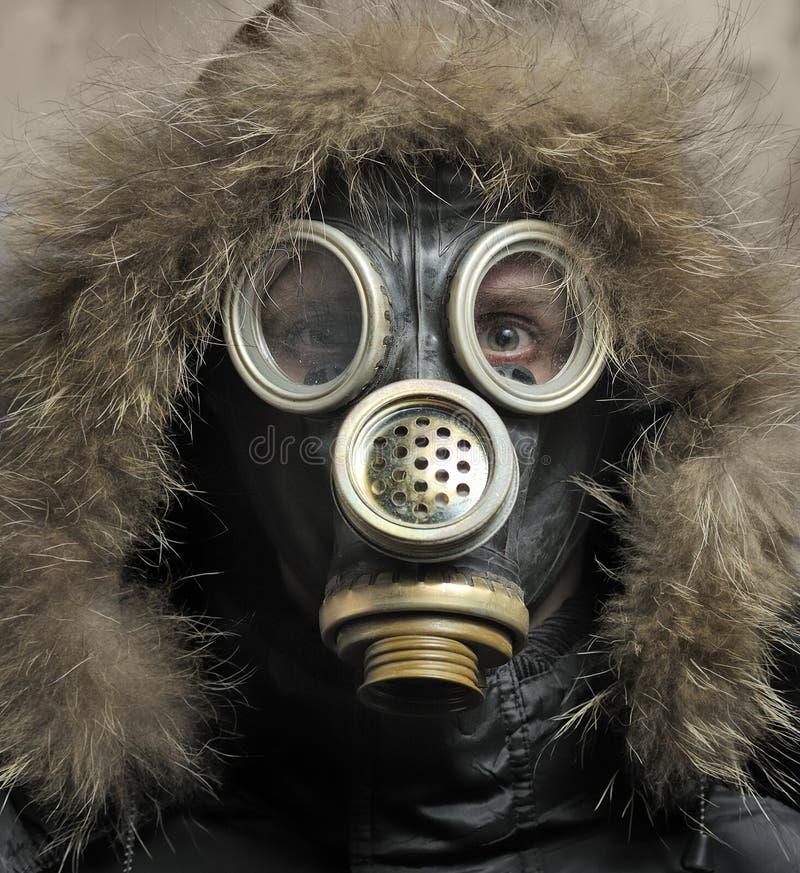 Homme dans le respirateur photo libre de droits