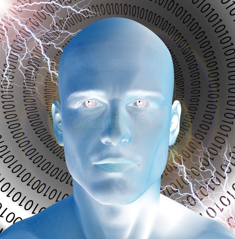 Homme dans le tube binaire illustration de vecteur