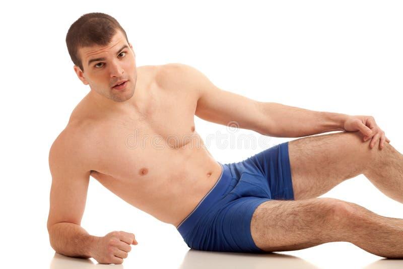 Homme dans les sous-vêtements photos stock