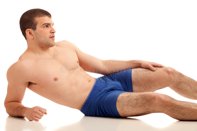 Homme dans les sous-vêtements images stock
