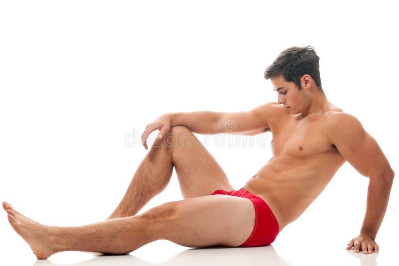 Homme dans les sous-vêtements image libre de droits