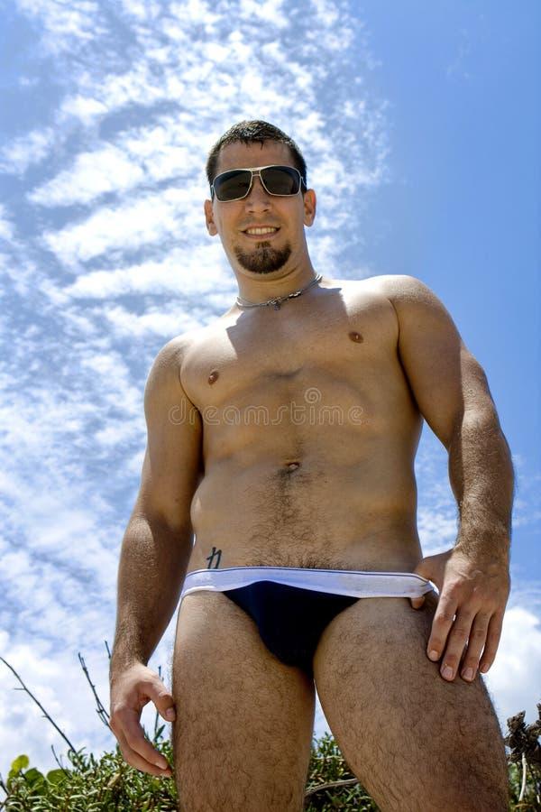 Homme dans les sous-vêtements photo libre de droits