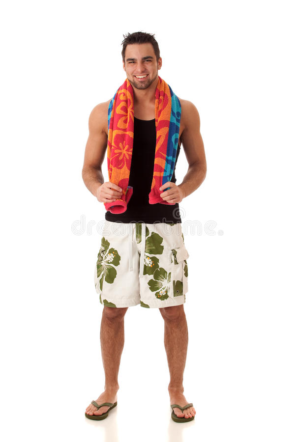 Homme dans les vêtements de bain photo stock