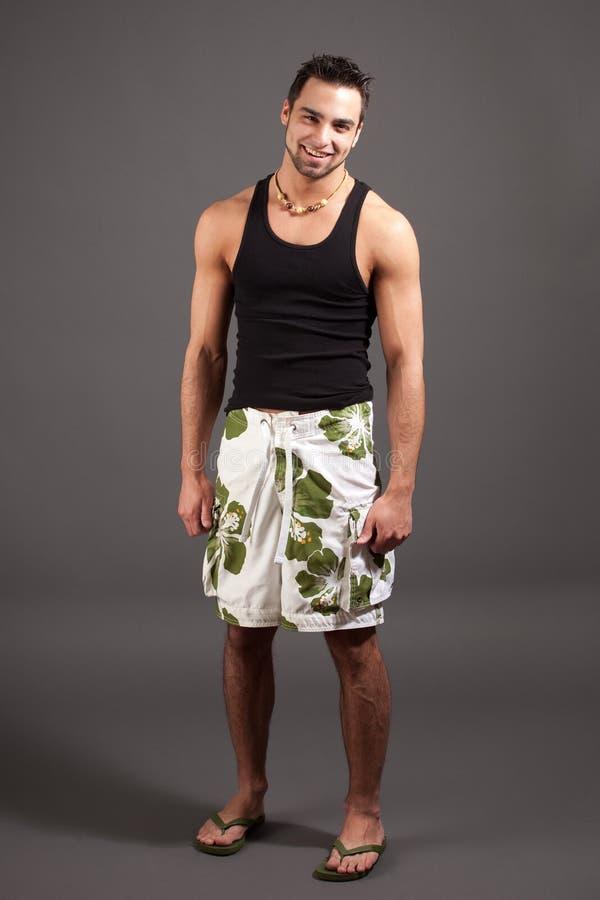 Homme dans les vêtements de bain images stock