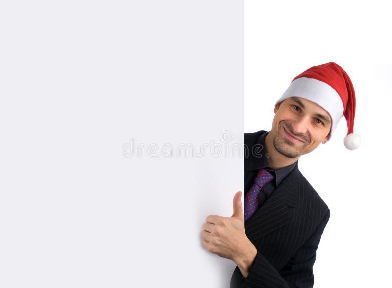Homme dans un chapeau de Santa photo libre de droits