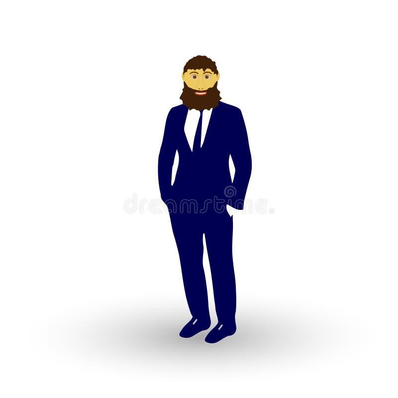 Homme de barbe illustration libre de droits