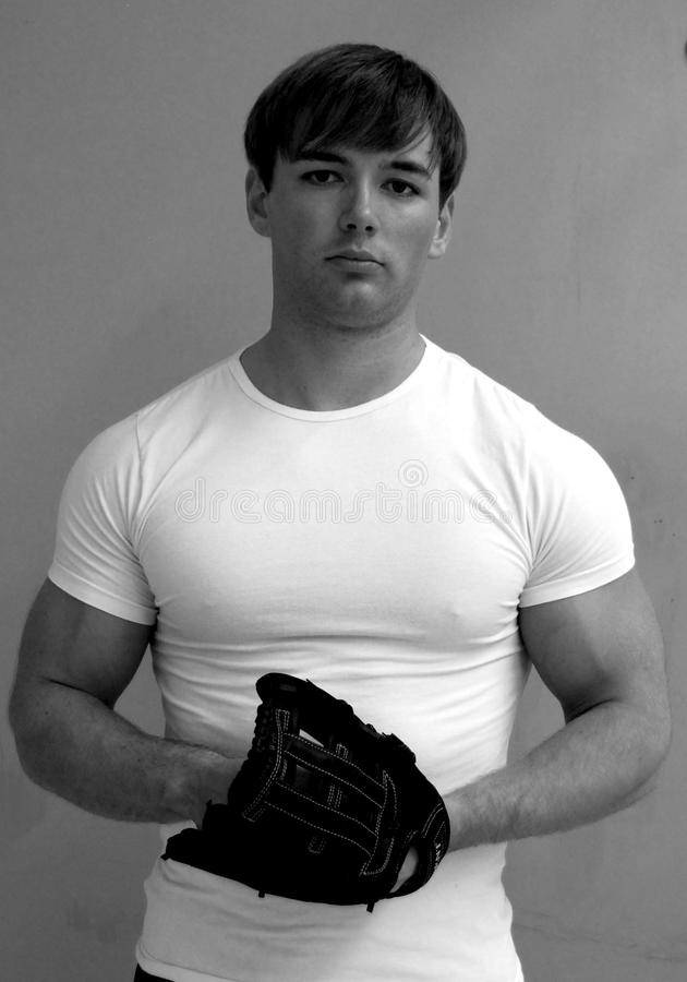 Homme de base-ball images libres de droits