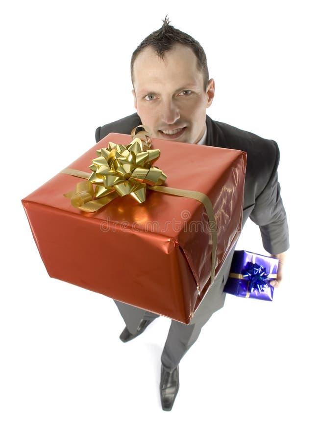 Homme De Cadeaux Photographie stock libre de droits
