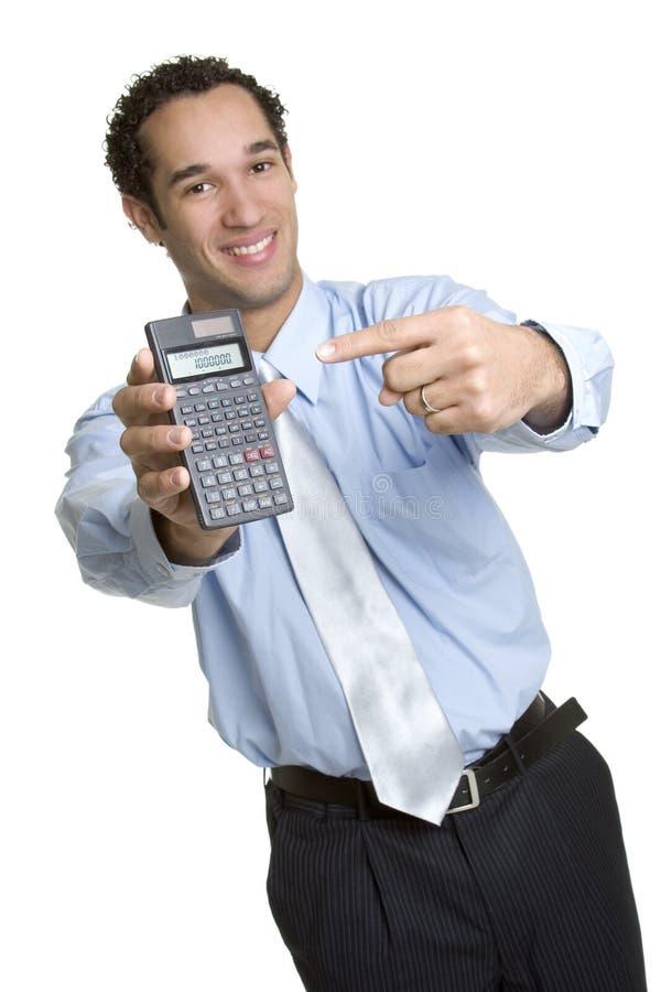 Homme de calculatrice d'affaires images libres de droits