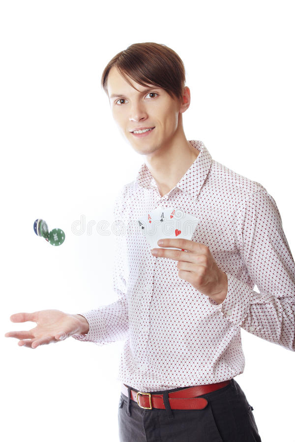 Homme de casino image libre de droits
