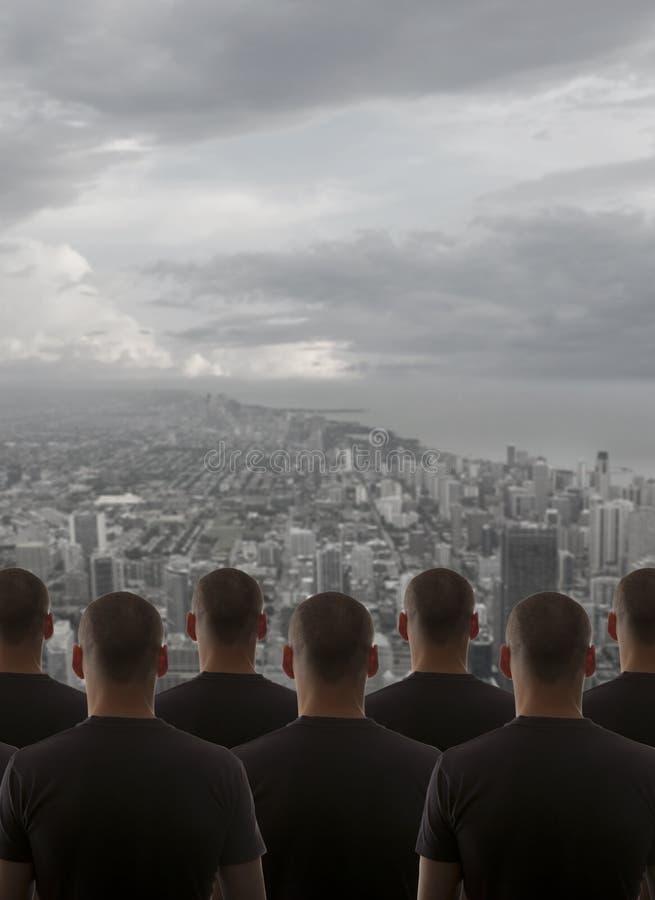 Homme de clonage de groupe photo stock