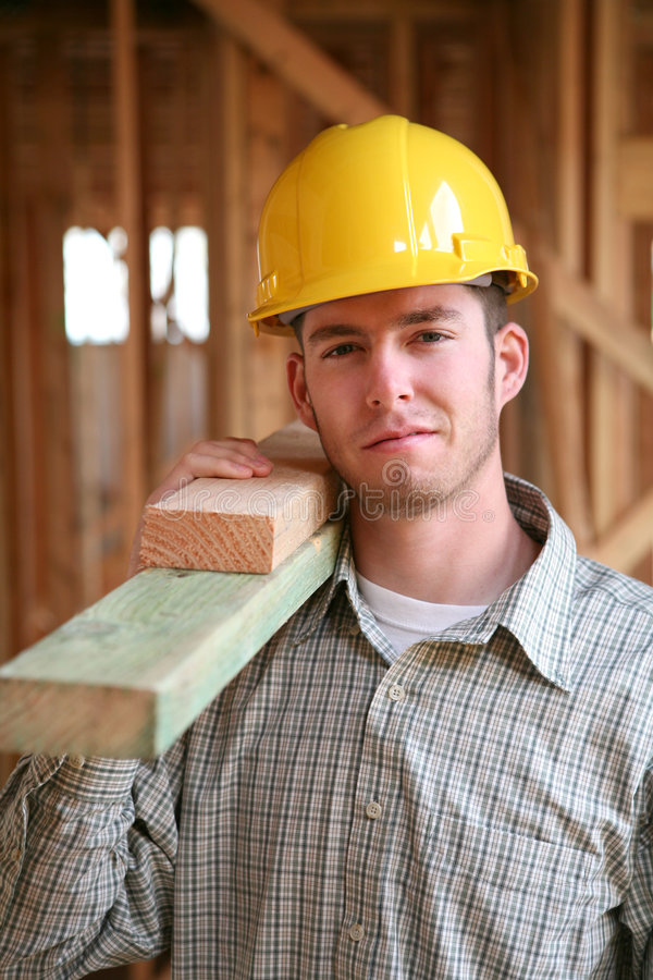 Homme de construction images stock