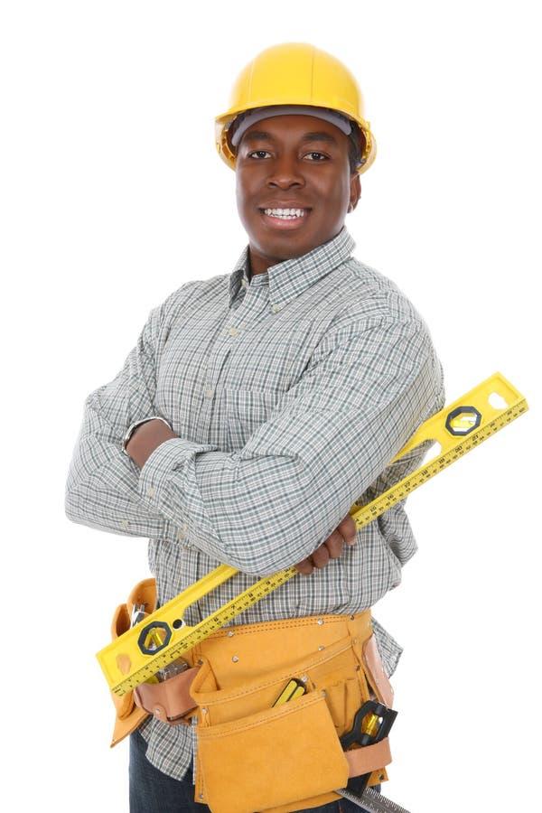 homme de construction d'afro-américain photo stock