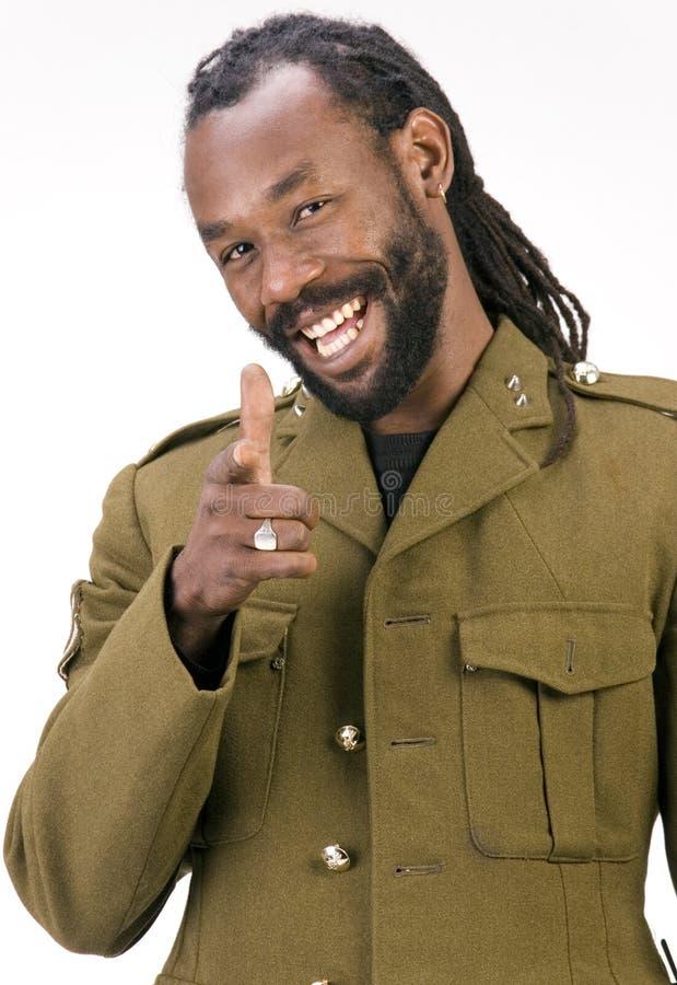 Homme de couleur d'armée de Rasta image stock