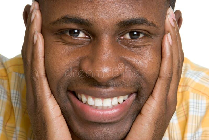 Homme de couleur de sourire image libre de droits