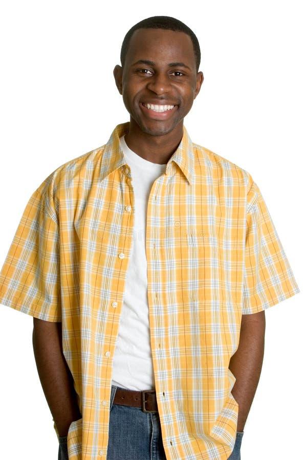 Homme de couleur de sourire photographie stock