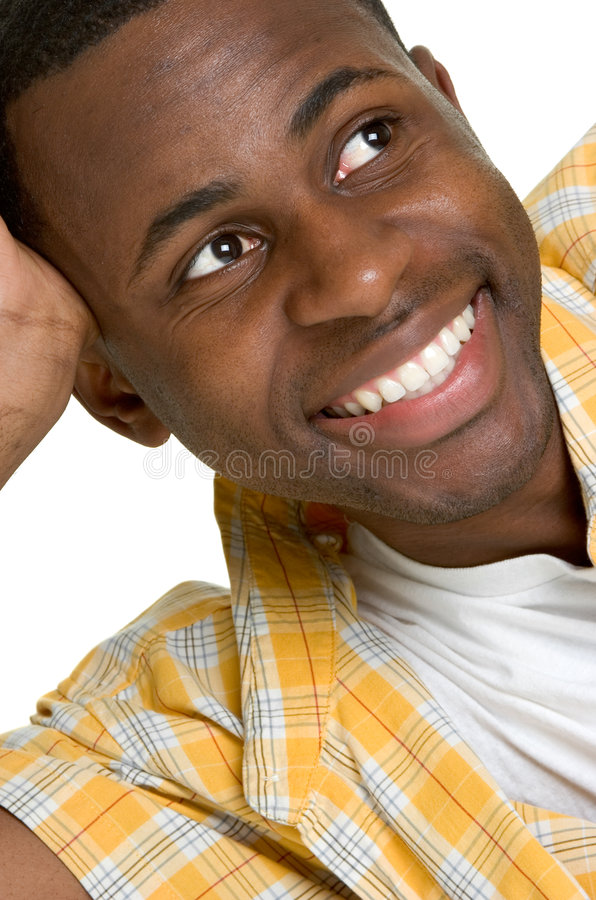 Homme de couleur de sourire photo stock