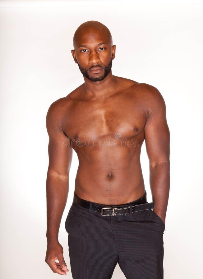 Homme de couleur sans chemise photos stock