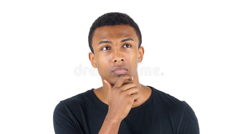 Homme de couleur songeur de pensée photo libre de droits