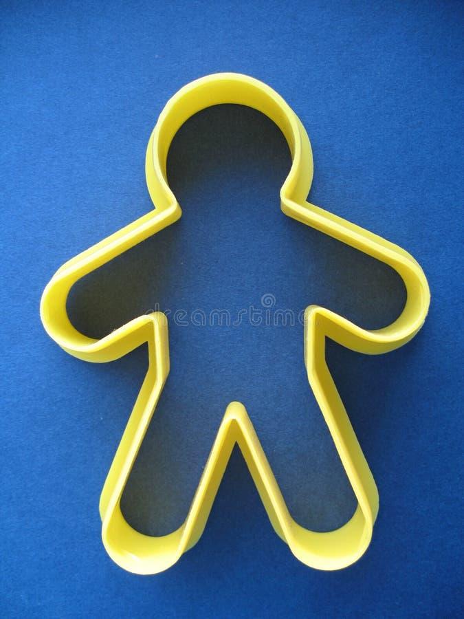 Homme de coupeur de biscuit images stock