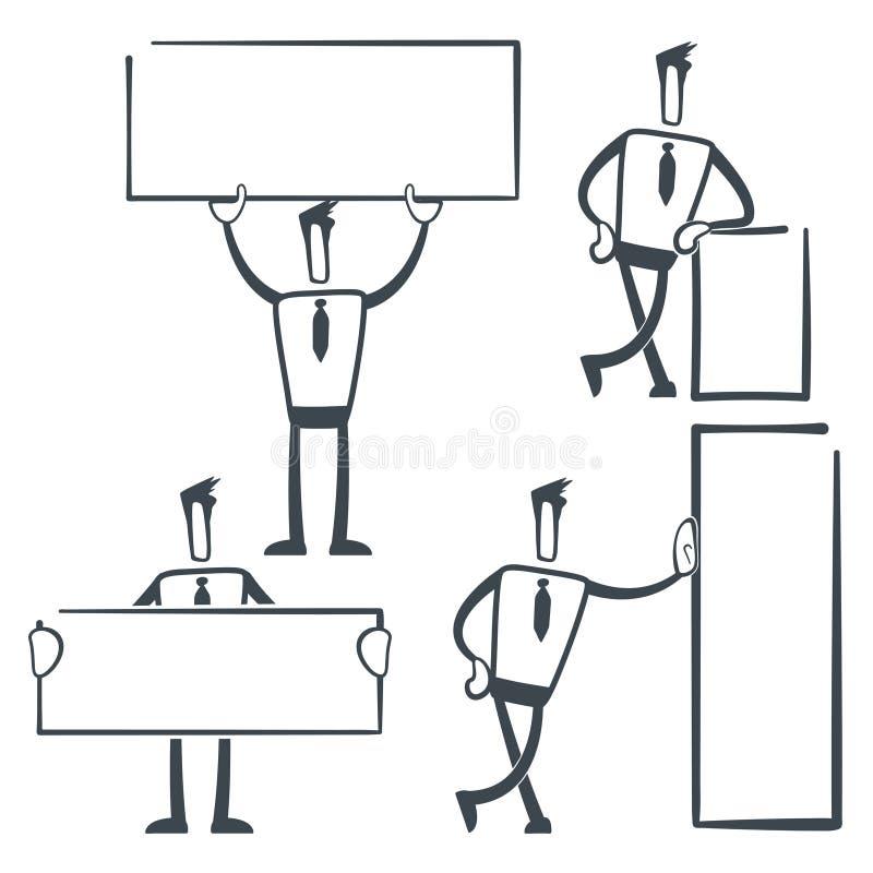 Homme de croquis illustration de vecteur