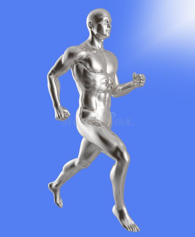 homme de cyborg runing illustration de vecteur
