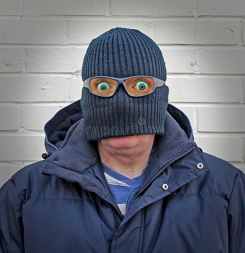 Homme de déguisement de Balaclava image stock