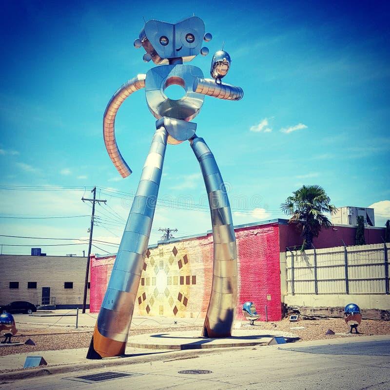 Homme de déplacement Sculpture image libre de droits