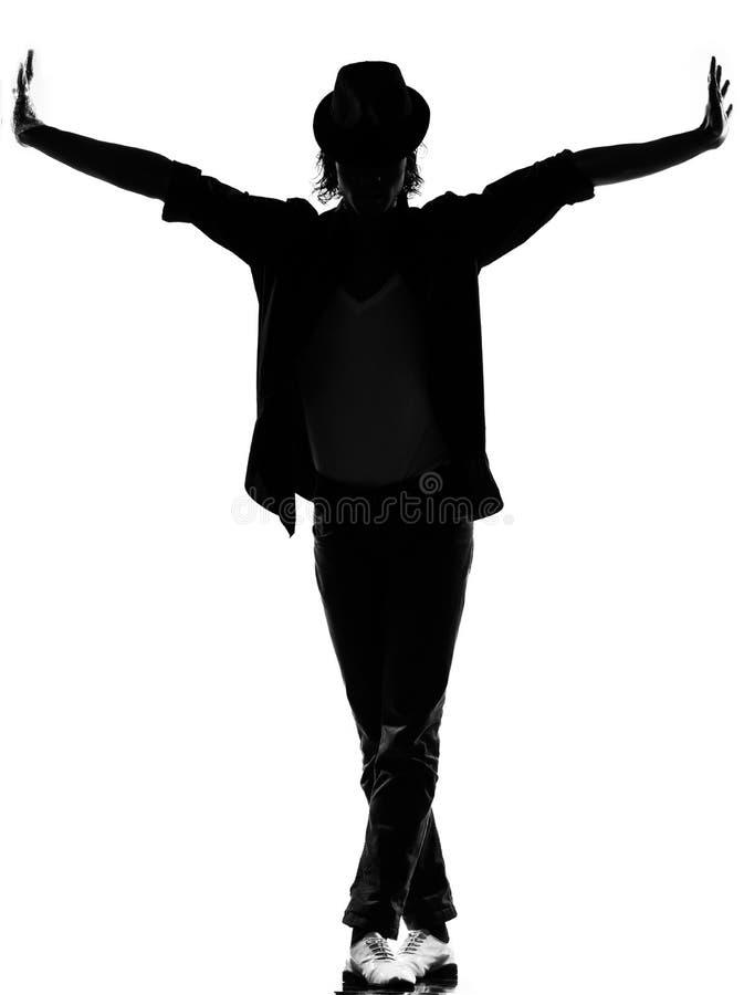 Homme de danse de danseur de trouille d'houblon de gratte-cul image libre de droits